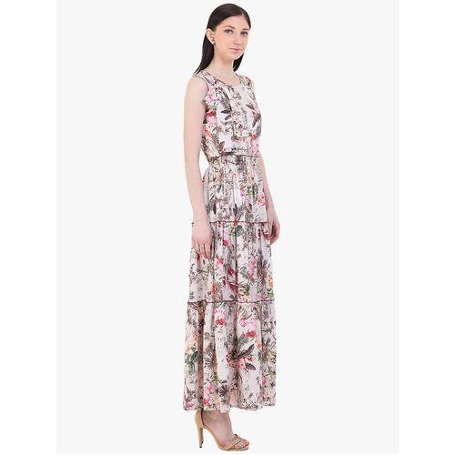 INSTACRUSH round neck floral flared dress