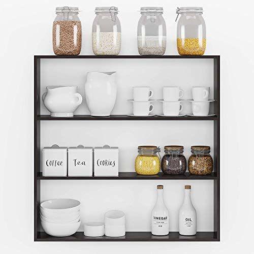 Swingzy Furnifry Wooden Kitchen Wall Shelf for Storage Boxes, Kitchen Shelf Racks, Kitchen Shelf Organizer, Kitchen Wall Mounted Rack, Shelf for Kitchen Storage (Brown)