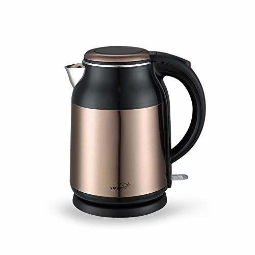 V-Guard VKS17 Prime 1.7-litres 1900 Watts Stainless Steel Electric Kettle with Cool Touch Body (Copper Black)