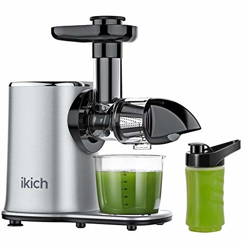 IKICH CP199 Cold Press Juicer Machine 2-Speed with 500ml Portable Bottle, Easy to Clean, High Juice Yield,Reverse Function