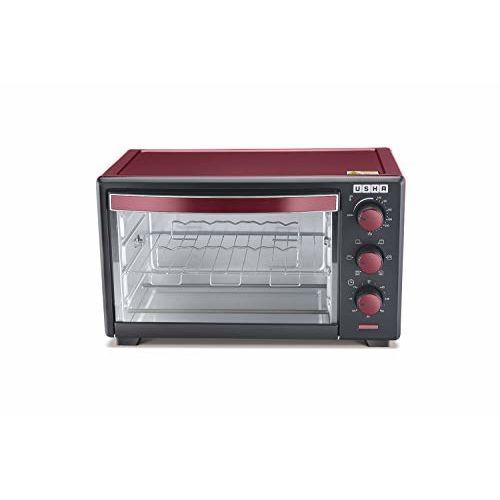 Usha 19L (OTGW 3619R) Oven Toaster Grill (Wine & Matte Black)