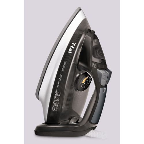 T-fal FV4495 Ultraglide Easycord Steam Iron Ceramic Scratch Resistant Non-Stick Soleplate with Auto-Off and Anti-Drip System, 1725-Watt, Black