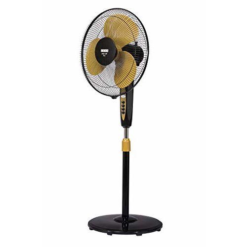 Usha Mist Air Icy 400mm Pedestal Fan (Black & Yellow Och)