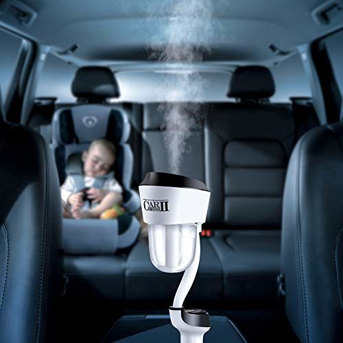 One Fire Car Humidifier Essential Oil Diffuser with Dual USB Charger Adapter, Portable Auto Shut-Off Air Refresher for Vehicle Automobile (Black)