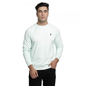 Red Tape Olive Cotton Solid Full Sleeve Sweatshirt