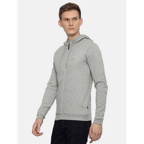 883 POLICE Grey Cotton Solid Full Sleeve Sweatshirt