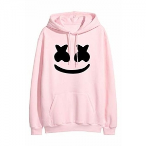 More & More Pink Cotton Graphic Print Long Sleeve Hoodie