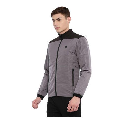 Proline Grey Polyester Solid Regular Fit Jacket