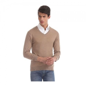 Arrow Beige Textured Sweater
