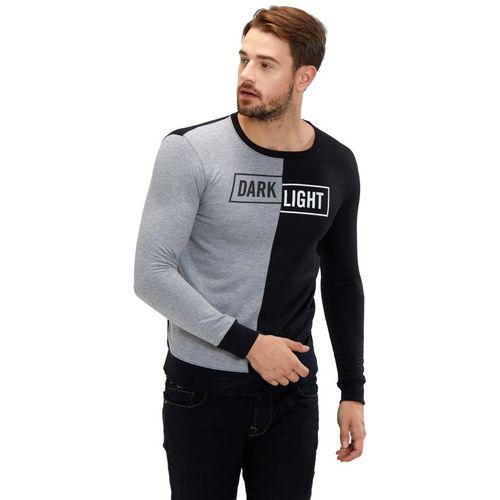 Maniac Full Sleeve Printed, Color Block Men Sweatshirt