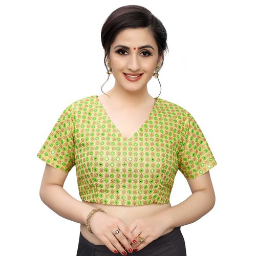shaily mirror work blouse