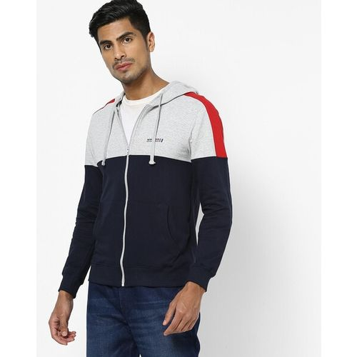 The Indian Garage Co Colourblock Zip-Front Hooded Sweatshirt