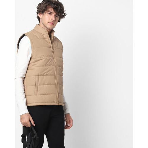 FIRST CLASS High-Neck Zip-Front Gilet with Insert Pockets