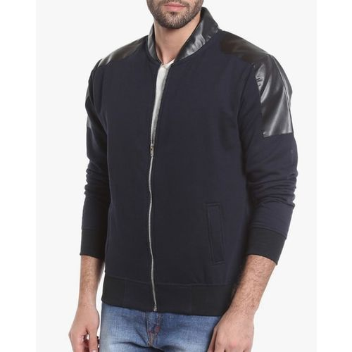 Campus Sutra Zipper Jacket with Panel Detail
