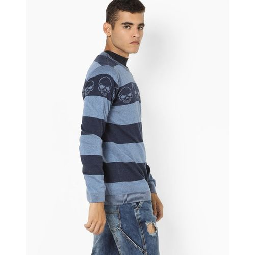 Jack & Jones Striped Crew-Neck Sweater