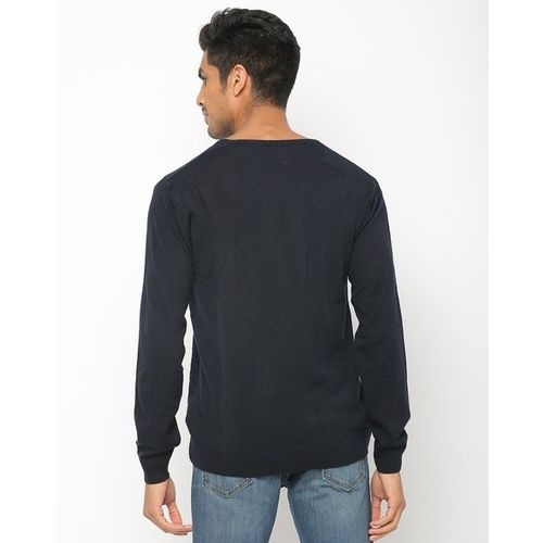 ONLY VIMAL-APPAREL Patterned-Knit Pullover with Ribbed Hem