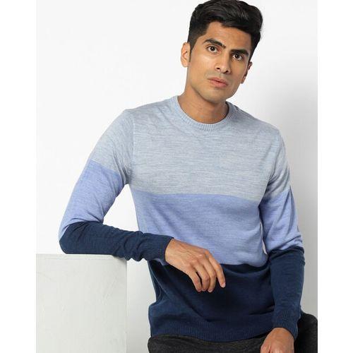 NETPLAY Colourblock Pullover with Ribbed Hems