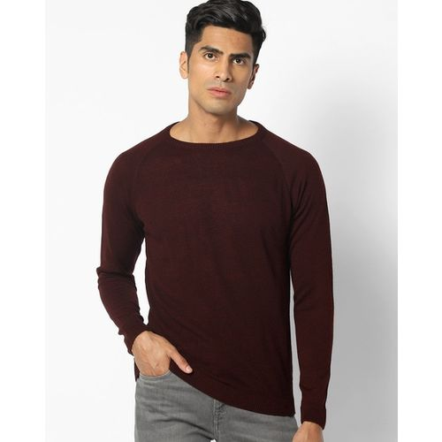 DNMX Textured Pullover with Raglan Sleeves