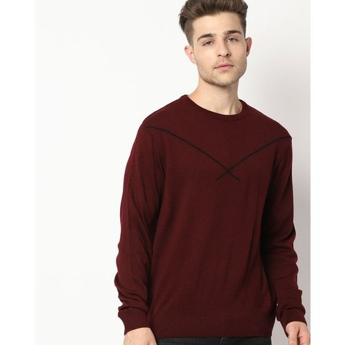 NETPLAY Crew-Neck Pullover with Contrast Stripe