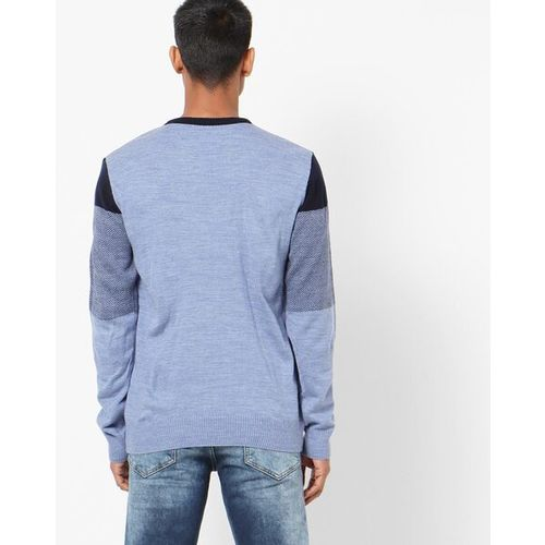 NETPLAY Colourblock Pullover with Ribbed Hems