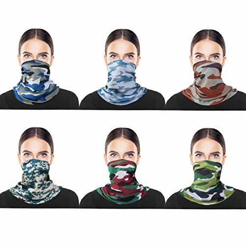 kilofly Multi-purpose Seamless Headwear Bandanas [Set of 8]