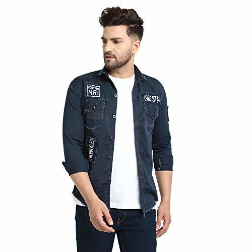 White Luxury Men's Solid Denim jacket (coloured)