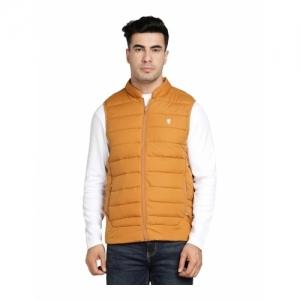 Red Tape Mustard Polyester Mock Collar Jacket