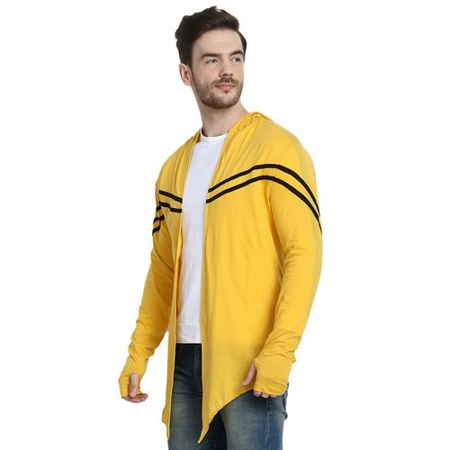 URBAN VIEW yellow taped hooded shrug