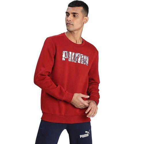 Puma Crew-Neck Sweatshirt with Branding