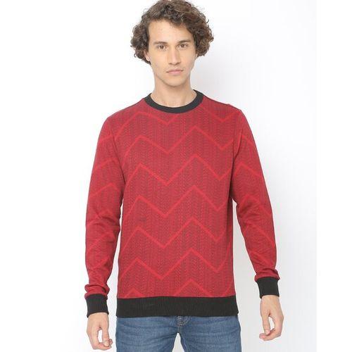 UNITED COLORS OF BENETTON Chevron Print Crew-Neck Sweatshirt