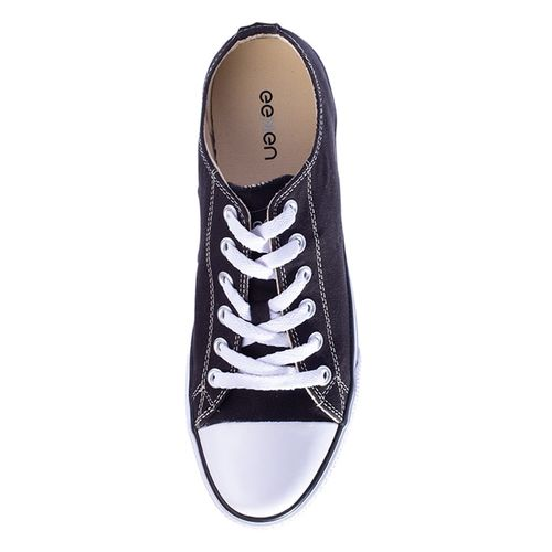 EEKEN black canvas lace up sneakers