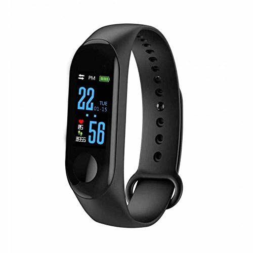 Eloquence Smart Watch Wristband Fitness Tracker Watch M3 Plus Smart Bluetooth Sports Bracelet Heart Rate Blood Pressure with Sleep Monitor Smart Band Waterproof