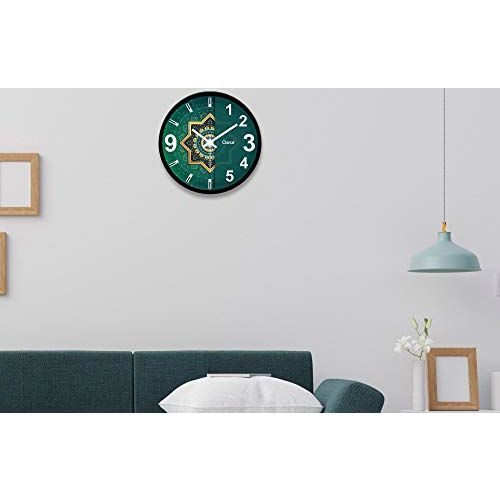 Clarco Brand Big Size Designer Analogue Round Plastic Wall Clock with Glass for Home/Living Room/Bedroom/Kitchen/Office (12 x 12 Inch / 30 x 30 cm)