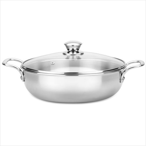 Butterfly Royale Tri-Ply Kadhai 24 cm with Lid(Stainless Steel)