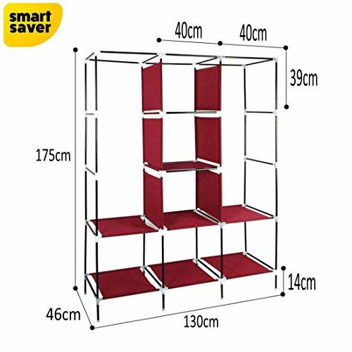 BigOwl 8 Shelf Closet Organizer Wardrobe Closet Portable Shelves, Storage Organizer Cabinet with Non-Woven Fabric, Quick and Easy to Assemble, Extra Strong and