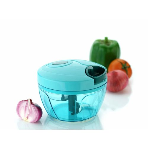 COLLISION Plastic Handy Chopper with 3 Blades for Chopping of Fruits and Vegetables - Pista
