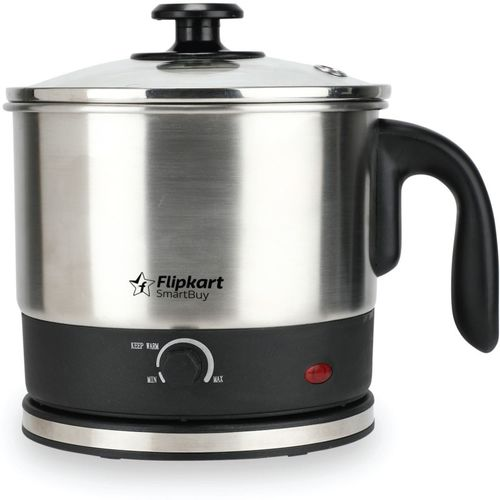 Flipkart SmartBuy FKSBMK12 Multi Cooker Electric Kettle(1.2 L, Black)