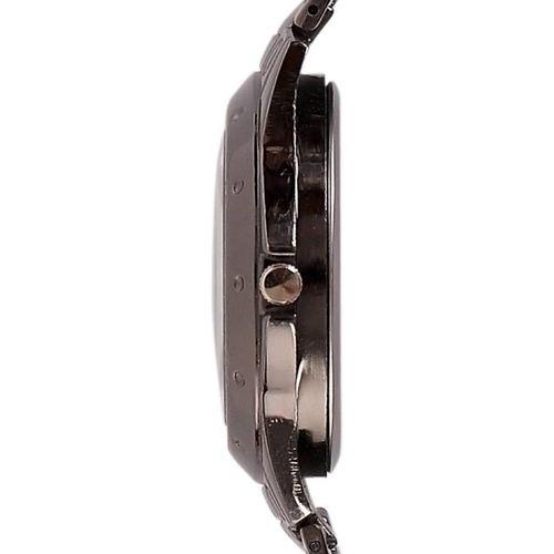 Rosra Round Dial Black Metal Strap Analog Watch for Men