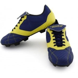 Vector X Armour Navy Blue Low Ankle Football Shoes