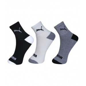 Puma Multicolour Cotton Ankle Length Socks - 3 Pair Pack