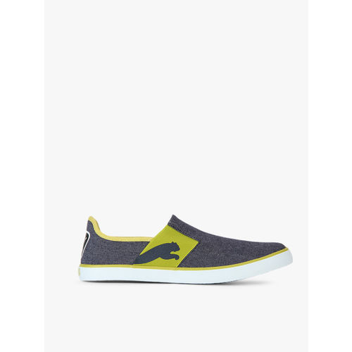 Puma Unisex Navy Blue & Green Lazy Slip-On Sneakers