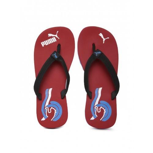 7123139d7317 Buy PUMA Black   Red Wave II DP Flip-Flops online