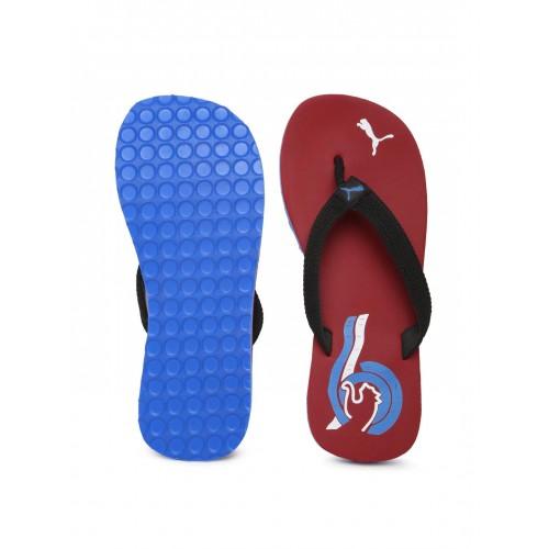 PUMA Black & Red Wave II DP Flip-Flops