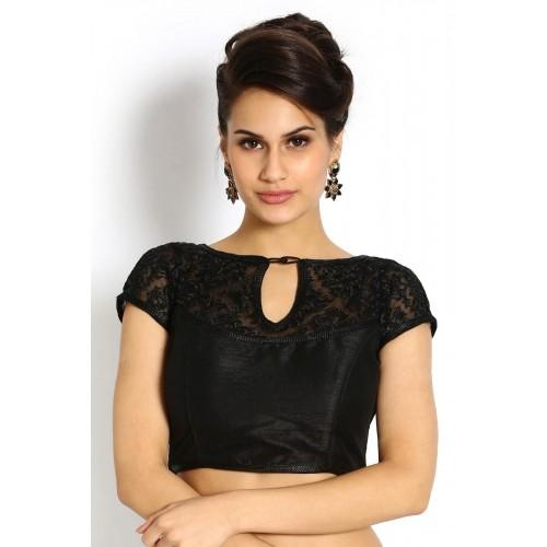 4af246250936e3 Buy Soch Black Dupion   Net Blouse online