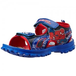 Spiderman Boy's Red and Blue Printed Sandals