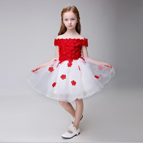 3cd08143a31c Buy Yuanlu Pretty Red Floral Off Shoulder Party Dress online ...