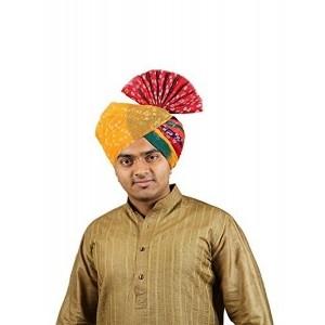 eKolhapuri Panchrangi Jodhpuri Bandhej Cotton Pheta