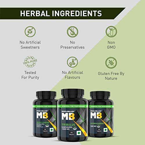 Muscleblaze Ayurveda For Muscle Gain | MuscleHerb | Ashwagandha, Shatavari, Safed Musli | 60 tablet(s)