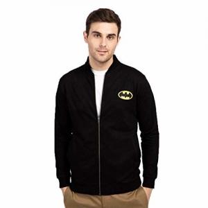 Bewakoof Men's Batman Badge Bomber Jacket