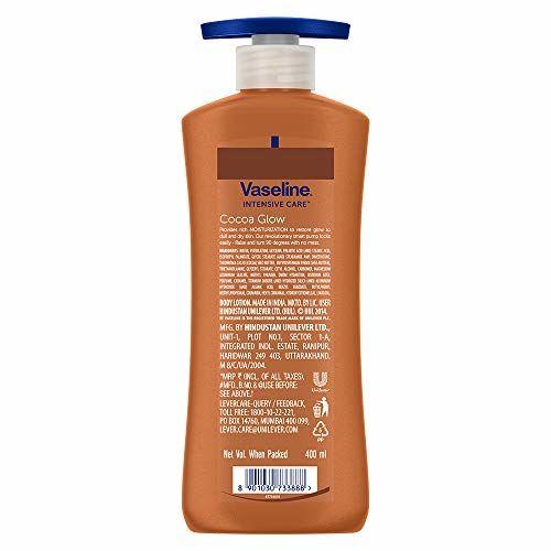 Vaseline Intensive Care Cocoa Glow Body Lotion, 200 ml and Vaseline Intensive Care Cocoa Glow Body Lotion, 400 ml